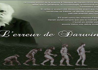 L'Erreur de Darwin : l'effondrement de la théorie de l'évolution par la science ? – partie 1/2